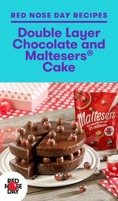 Comic Relief is a major UK charity, with a vision of a just world, free from poverty. Other Meat Recipes, Beef Recipes For Dinner, Baking Ideas, Baking Recipes, Cake Recipes, Red Nose Day Cakes, Malteser Cake, Happy Birthday 18th, Double Chocolate Cake