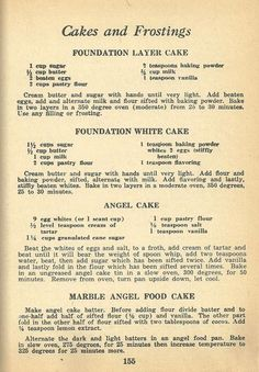 1940s cake recipes, 1940s frosting