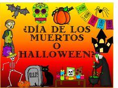 PowerPoint- Día de los Muertos (Day of the Dead) or Halloween? Middle School Spanish, Elementary Spanish, Teaching Spanish, Elementary Schools, Teaching Resources, Spanish Lesson Plans, Spanish Lessons, Spanish 1, Spanish Activities