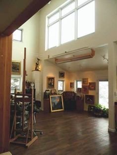 An artist dream space.  Studio of Susan Blackwood and Howard Freedland.