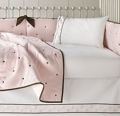 Love this bedding!  Nursery Bedding, Girl Nursery, Nursery Ideas, Restoration Hardware Baby, Bedding Collections, Baby Fever, Baby Care, Kids Girls, Bed Pillows
