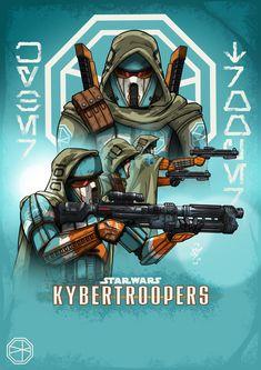 KyberTroopers by DazTibbles Star Wars Droids, Star Wars Rpg, Star Wars Clone Wars, Star Wars Characters Pictures, Star Wars Images, Star Wars Concept Art, Future Soldier, Star War 3, Pokemon