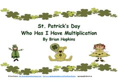 FREE - I have, Who has... Multiplication Game with St. Pat's Day clipart