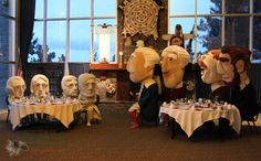 A truly unique Presidential dinner - #MountRushmore #RushmoreMascots #Nats - Presidents' Day 2013