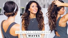Hi my beautiful friends! In this tutorial I show you a new way how to create heatless waves/curls with just a simple headband. http://www.luxyhair.com For th...