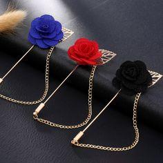 Fashion Gold Color Rose Brooch Pin Women Garment Accessories Jewelry Flower  Brooches For Women Lapel Pins Broche XR164-XR166 13960e5e1e2f