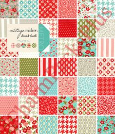 VINTAGE MODERN by Bonnie and Camille  - Moda Charm Pack - 5 inch Quilt Fabric Squares - 55040pp