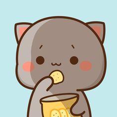 Mochi, Chibi Cat, Cat Couple, Cute Couple Wallpaper, Cute App, Cute Kawaii Animals, Cute Hamsters, Aesthetic Painting, Cartoon Icons
