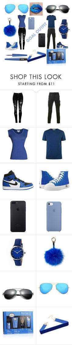 """goals out fit bf and gf"" by helenreneebray on Polyvore featuring Sophnet., Velvet by Graham & Spencer, Boglioli, NIKE, Bertha, Surell, Ray-Ban and The Art of Shaving"