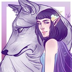 Lúthien and Huan 🌙 by egobarriart.tumblr.com