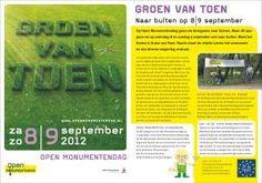 In Kunst - O - Foon van a.s. zondag 9 september een aantal exposanten van 'Groen van toen'.