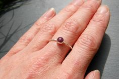 Ruby and sterling silver ring £34.00