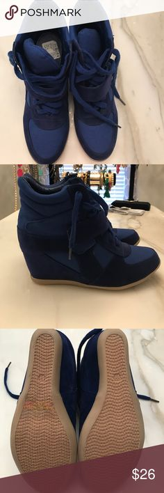 BNWT royal blue high top sneakers BNWT royal blue high top sneakers. Never worn! Comes with an extra set of shoe laces. Run true to size Shoes Sneakers