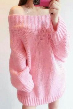 "Pastel pink sweater ♥ // Using ""Brick"" top down knitting pattern Korean Outfits, Mode Outfits, Girl Outfits, Fashion Outfits, Pastel Fashion, Kawaii Fashion, Cute Fashion, Style Fashion, Ddlg Outfits"
