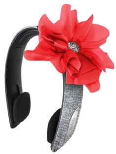 awesome iHip Snooki Couture 2-In-1Fashion/Stylish Printed Detachable HeadBand Headphones (Silver/Red)  #2In1Fashion/Stylish #Couture #Detachable #Headband #Headphones #iHip #Printed #Silver/Red #Snooki