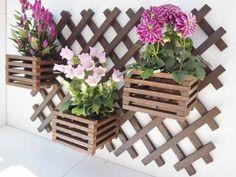 The Nuiances of Herb Garden Racks Apartment Garden Rack, Herb Garden, Pergola, Outdoor Plants, Outdoor Decor, Diy Holz, Handmade Furniture, Flower Pots, Planting Flowers
