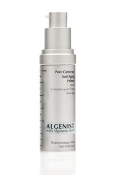 """""""I never really understood primers until Algenist's Pore Corrector graced my face,"""" advertising and commerce editor Larkin Clark admits. """"Even when applied over thick moisturizer, it smooths the appearance of pores and creates a matte finish that lets me skip the powder (a major plus for warmer months). But beware: One little squeeze goes a long way. Use too much, and the stuff starts to clump with your powder or foundation."""""""