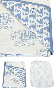 Too cute - great Baby Shower gift - rikshaw design - taj blanket