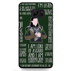 Loki Quotes TATUM-6627 Samsung Phonecase Cover For Samsung Galaxy Note 7