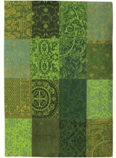 Louis De Poortere Green Cotton Rug 3 from the Louis De Poortere Rugs collection at Modern Area Rugs Wool Carpet, Rugs On Carpet, Black And Grey Rugs, Area Rugs Cheap, Cactus Wall Art, 8x10 Area Rugs, Gold Rug, Patchwork Rugs, Diy Holz