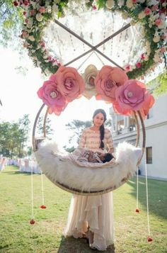 Outstanding baby nursery info are offered on our internet site. Have a look and you wont be sorry you did. Ceremony Decorations, Baby Shower Decorations, Parties Decorations, Naming Ceremony Decoration, Cradle Ceremony, Event Decor, Baby Names, Paper Flowers, New Baby Products