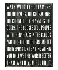 Love this 'Walk With The Dreamers' Box Sign on #zulily! #zulilyfinds