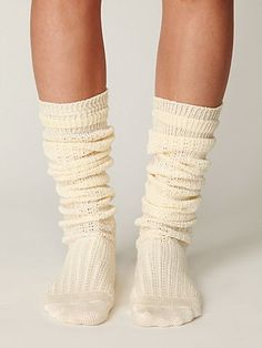Free People Tall Crochet Socks