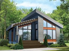 Modern Vacation Home, 072H-0198