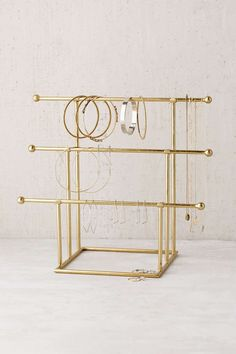 Shop Emilia Tiered Jewelry Stand at Urban Outfitters today. We carry all the latest styles, colors and brands for you to choose from right here. Earring Storage, Jewellery Storage, Jewellery Display, Jewelry Organization, Diy Jewellery, Bridal Jewelry, Tabletop, Clean Gold Jewelry, Ideias Diy