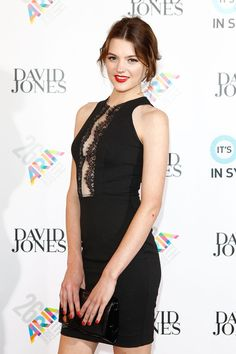 Model Montana Cox arrives at the 26th Annual ARIA Awards 2012 at the Sydney Entertainment Centre on November 29, 2012 in Sydney, Australia.