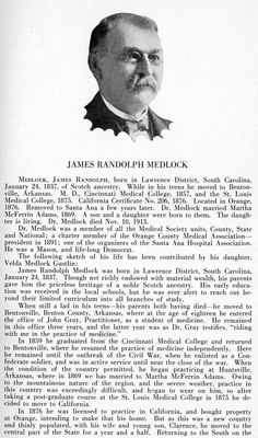 Part 1. Dr. James Randolph Medlock, Orange County, California, Medical Pioneer