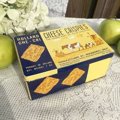 Mid Century Dutch Cheese Crispies Tin Litho by WonderCabinetArts