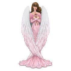 """Messenger Of Hope Figurine Brooke Gillette Breast Cancer Support """"Hope"""" Angel Figurin"""