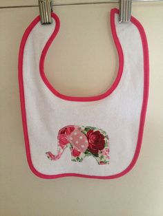 https://www.etsy.com/shop/catemoss  Enter the code PINTEREST5 for $5 off when you spend $20 or more  Baby clothes girl elephant bib newborn to 1yo by catemoss on Etsy, $8.00  sewing craft DIY ideas