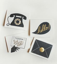 i heart paper + stationary - these are really sweet