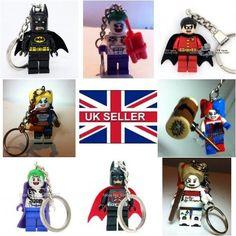 New minifigure keyring #keychain #batman, robin, joker, harley #quinn dc fits leg,  View more on the LINK: http://www.zeppy.io/product/gb/2/152271746874/