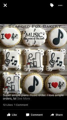 Music theme birthday cake sugar cookies 61 ideas for 2019 Music Cookies, Cute Cookies, Cupcake Cookies, Cookie Frosting, Royal Icing Cookies, Bolo Musical, Music Theme Birthday, Birthday Cake, Iced Sugar Cookies