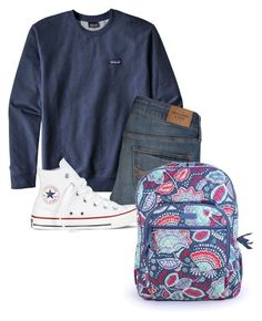 """School"" by lhnlila on Polyvore featuring Patagonia, Abercrombie & Fitch, Converse and Vera Bradley"