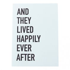 LETTERPRESS GREETING CARD: HAPPILY EVER AFTER