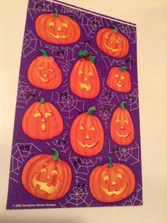 Grossman/'s Stickers Jack-O-Lanterns Mrs Small Pumpkins with Hats 4 Strips