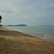 Footsteps in the sand on empty beach in rural Thailand. Trueworldtravels.com