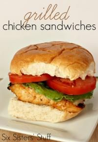 Six Sisters Marinated Grilled Chicken Sandwich Recipe. You will love the taste of this grilled chicken!