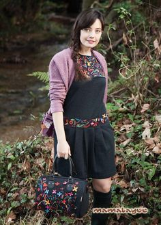 Dress: Piorno / Cardigan: Milamores / Bag: Crocus. www.mamatayoe-shop.com