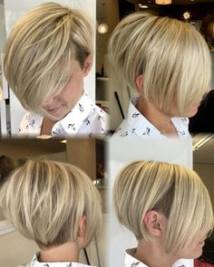 Best Short Straight Hair Ideas for 2019 - Aktuelle Damen Frisuren Pixie Hairstyles, Pixie Haircut, Hairstyles With Bangs, Straight Hairstyles, Undercut Pixie, Short Bob With Undercut, Haircut Long, Hairstyles Haircuts, Hairstyle Ideas