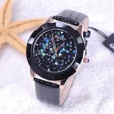 GUOU Brand Watch Women Watches Luxury Rhinestone Glittering Leather Quartz Watch Ladies Watch Hour montre femme relogio feminino Like if you remember Visit our store Cheap Watches, Women's Watches, Ladies Watches, Jewelry Watches, Wrist Watches, Watch Brands, Luxury Watches, Quartz Watch, Fashion Watches