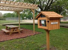 Matt Renwick. Wisconsin Rapids, WI. We started a raised bed garden at Howe Elementary in the Spring of 2010. Families from our school are able to sponsor a bed and grow whatever they would like each spring. Currently we have 14 raised beds.  A pergola with a picnic table and the Little Free Library were added in the Spring of 2012.  We dedicated it to our retiring Principal Scott Kellogg for his commitment to literacy for the students at Howe Elementary.