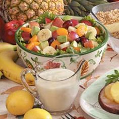 Delicious, fast and healthy recipe!  I added more fruit such as mango, strawberries, kiwi to it.    http://www.tasteofhome.com/Recipes/Avocado-Fruit-Salad
