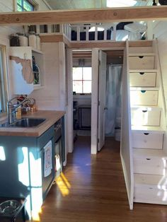 40 amazing loft stair for tiny house ideas