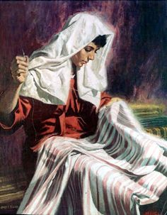 women in the scriptures - these women are all examples of what holy women would do and be.