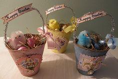 Peat pot Easter baskets